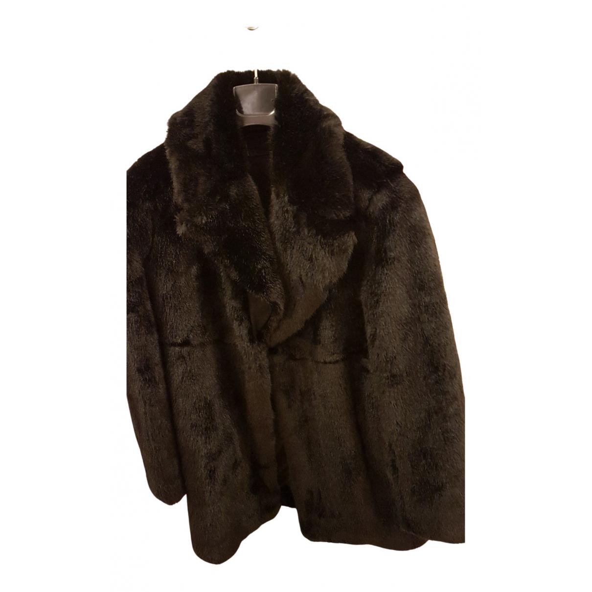 Zara \N Black Faux fur coat for Women 36 FR