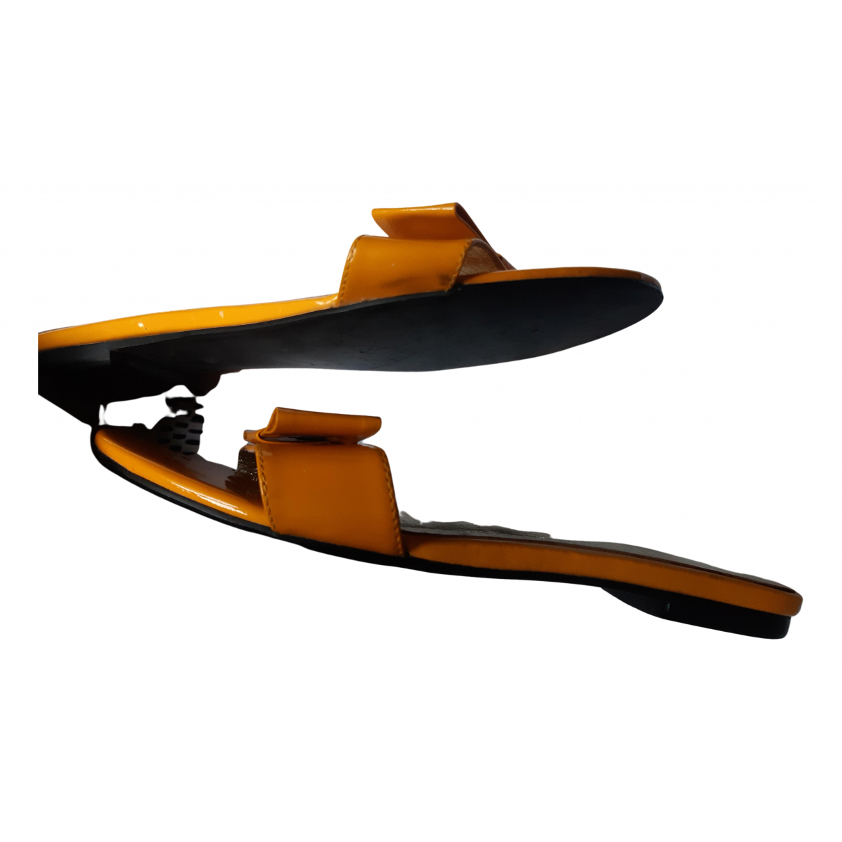 Atelier Mercadal N Yellow Patent leather Sandals for Women 38 EU