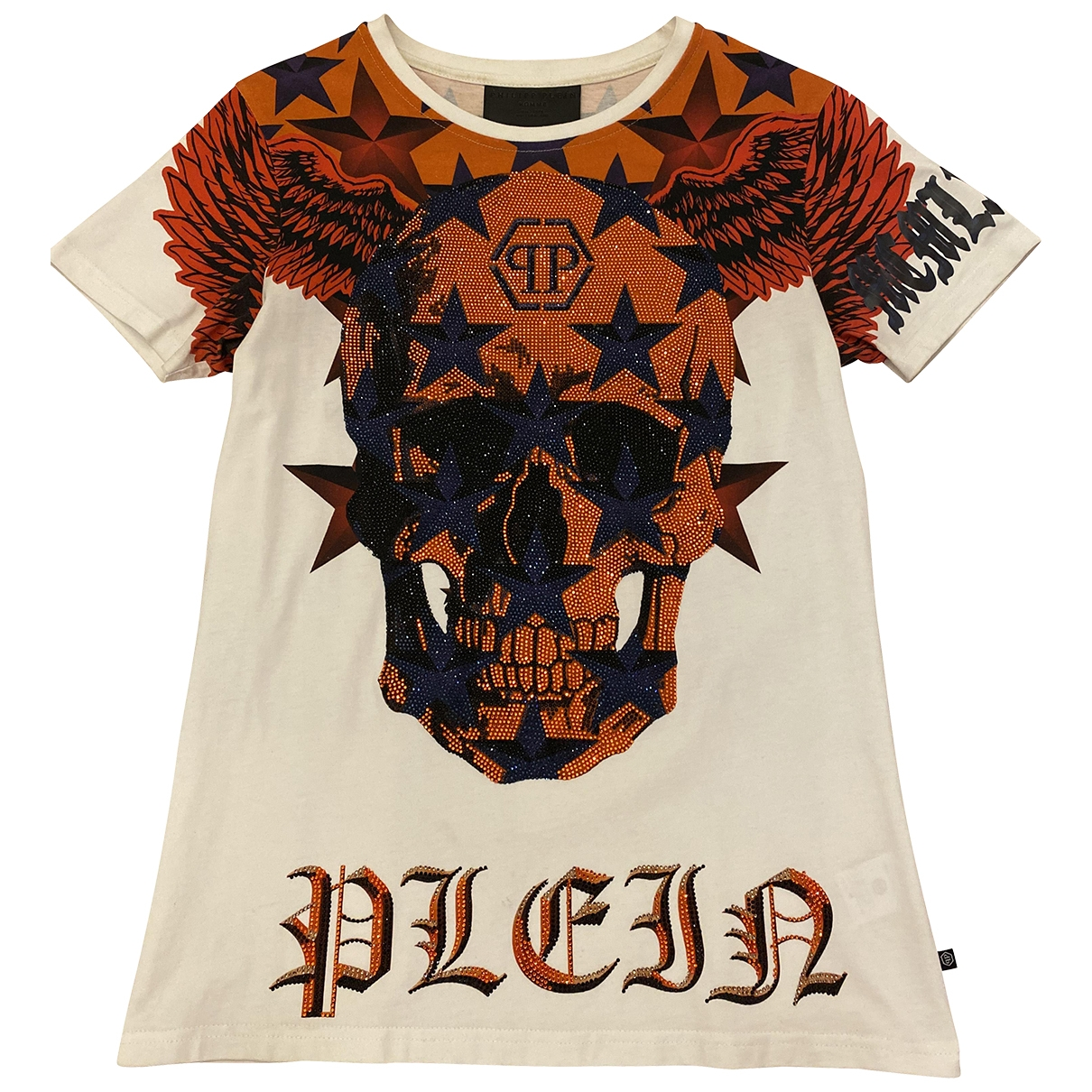 Philipp Plein \N White Cotton T-shirts for Men S International
