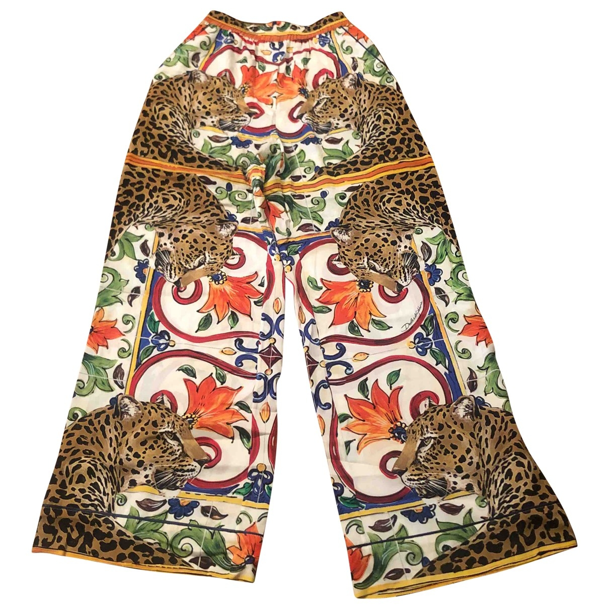 Dolce & Gabbana \N Silk Trousers for Women 40 IT