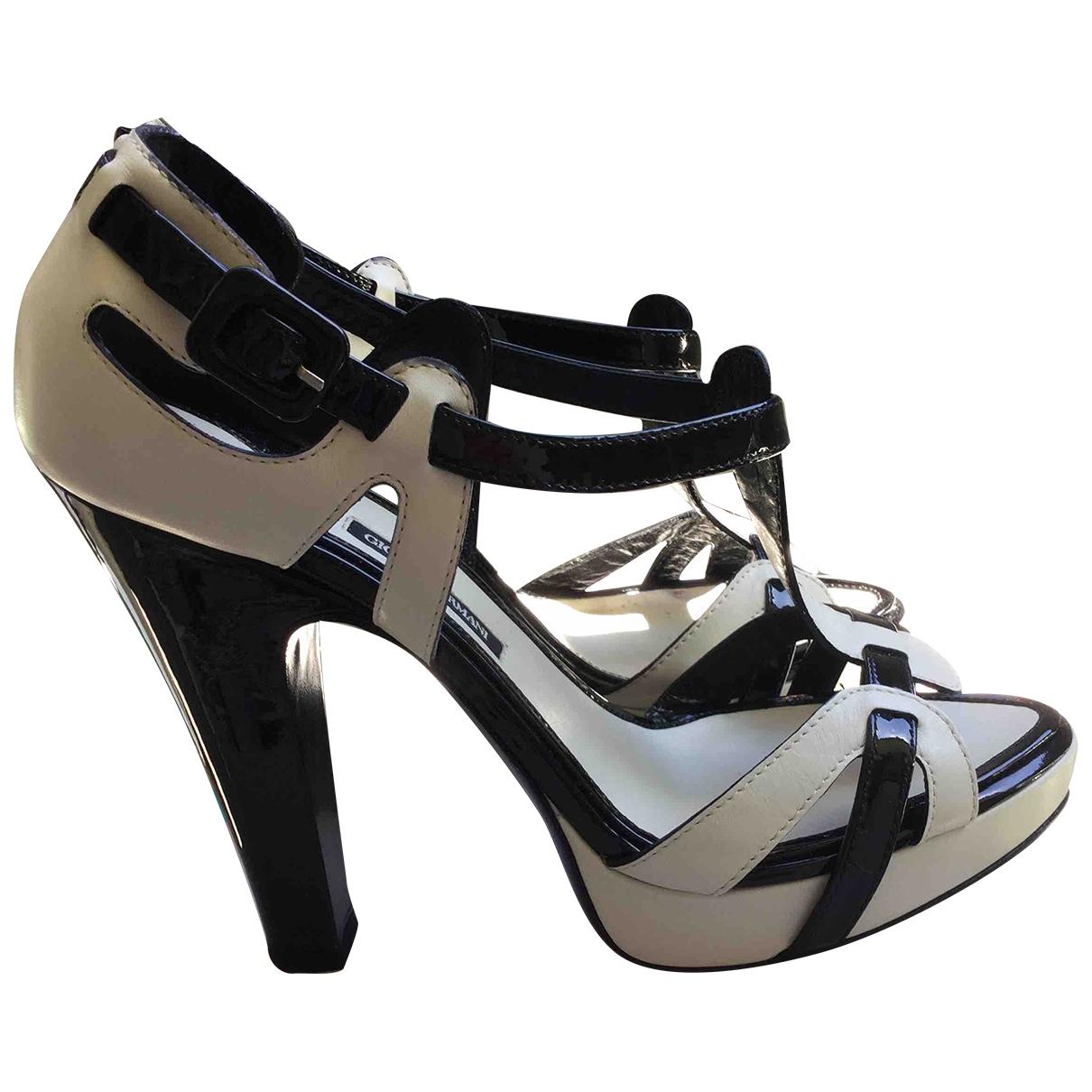 Giorgio Armani \N White Leather Heels for Women 38 IT