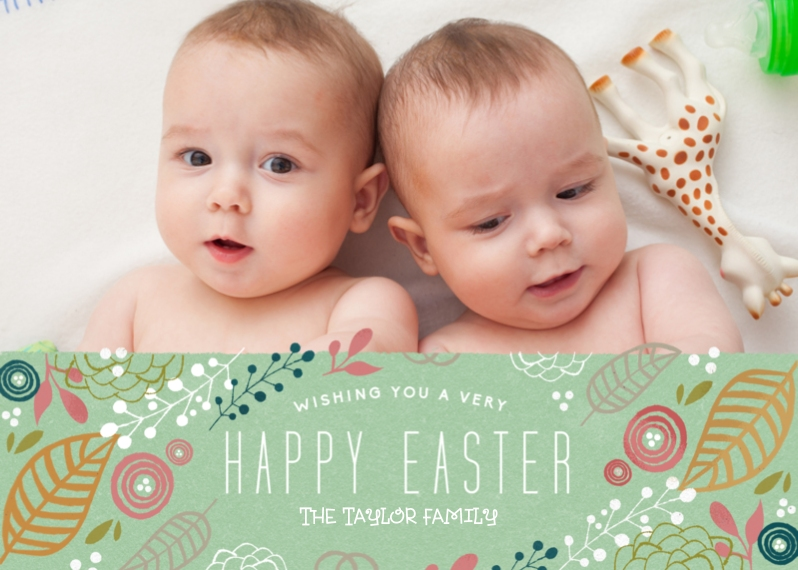 Easter Cards 5x7 Cards, Premium Cardstock 120lb with Scalloped Corners, Card & Stationery -Very Happy Easter