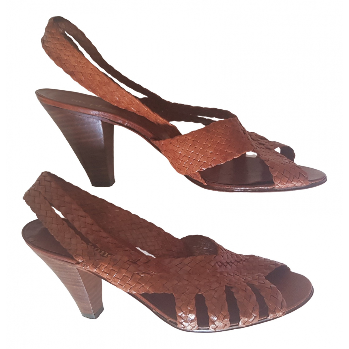 Non Signé / Unsigned \N Camel Leather Sandals for Women 37 EU