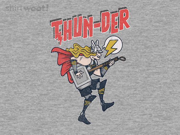 Rock Thunder God T Shirt