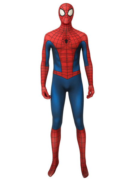 Milanoo Marvel Comics Spider Man Cosplay Spider Man: Into The Spider Verse Film Peter Parker Cosplay Suit Halloween