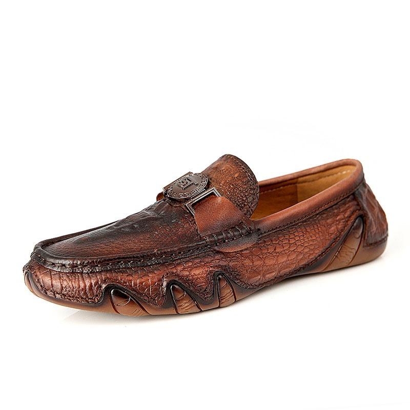 Ericdress Plain Round Toe Slip-On Low-Cut Upper Men's Shoes