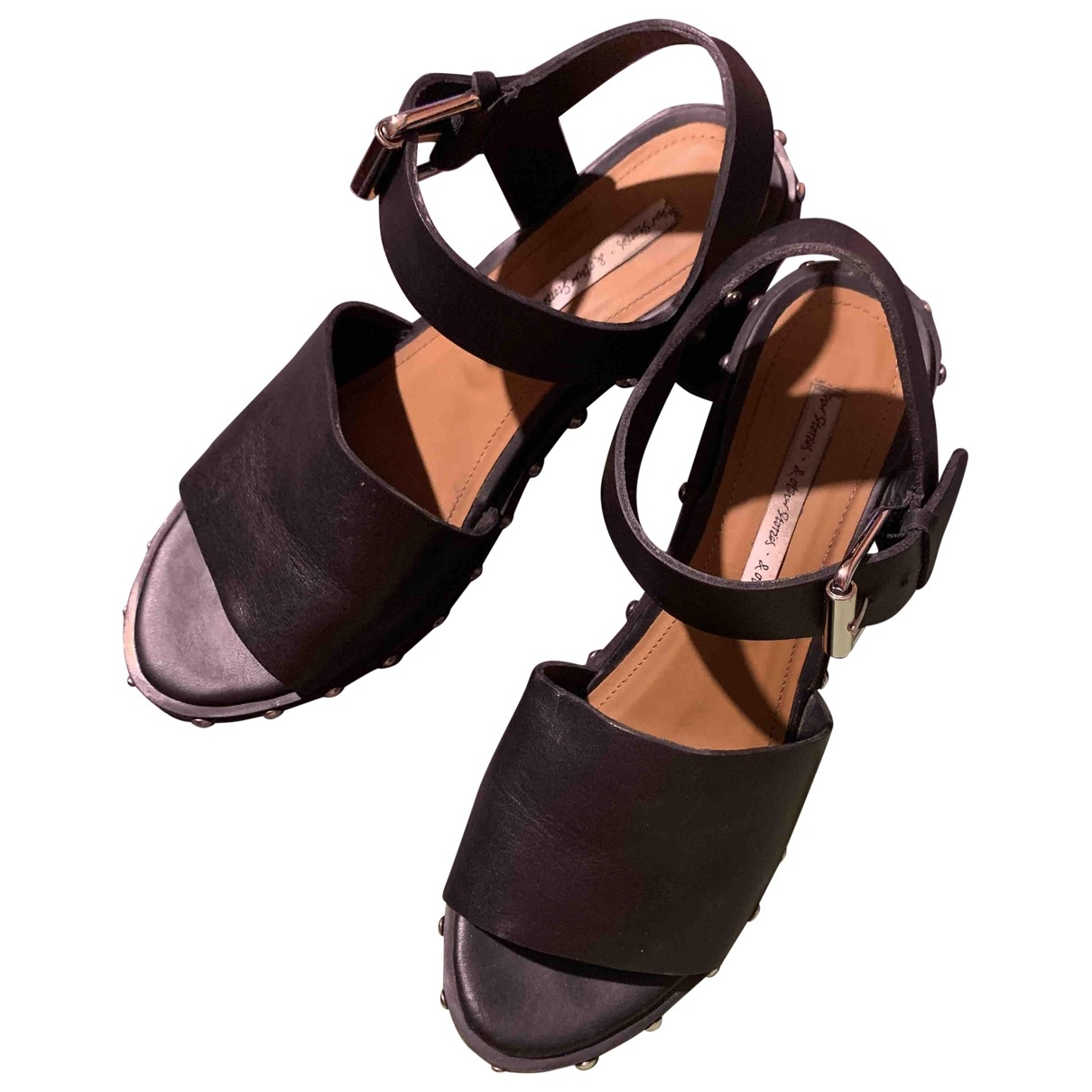 & Stories \N Black Leather Sandals for Women 39 EU