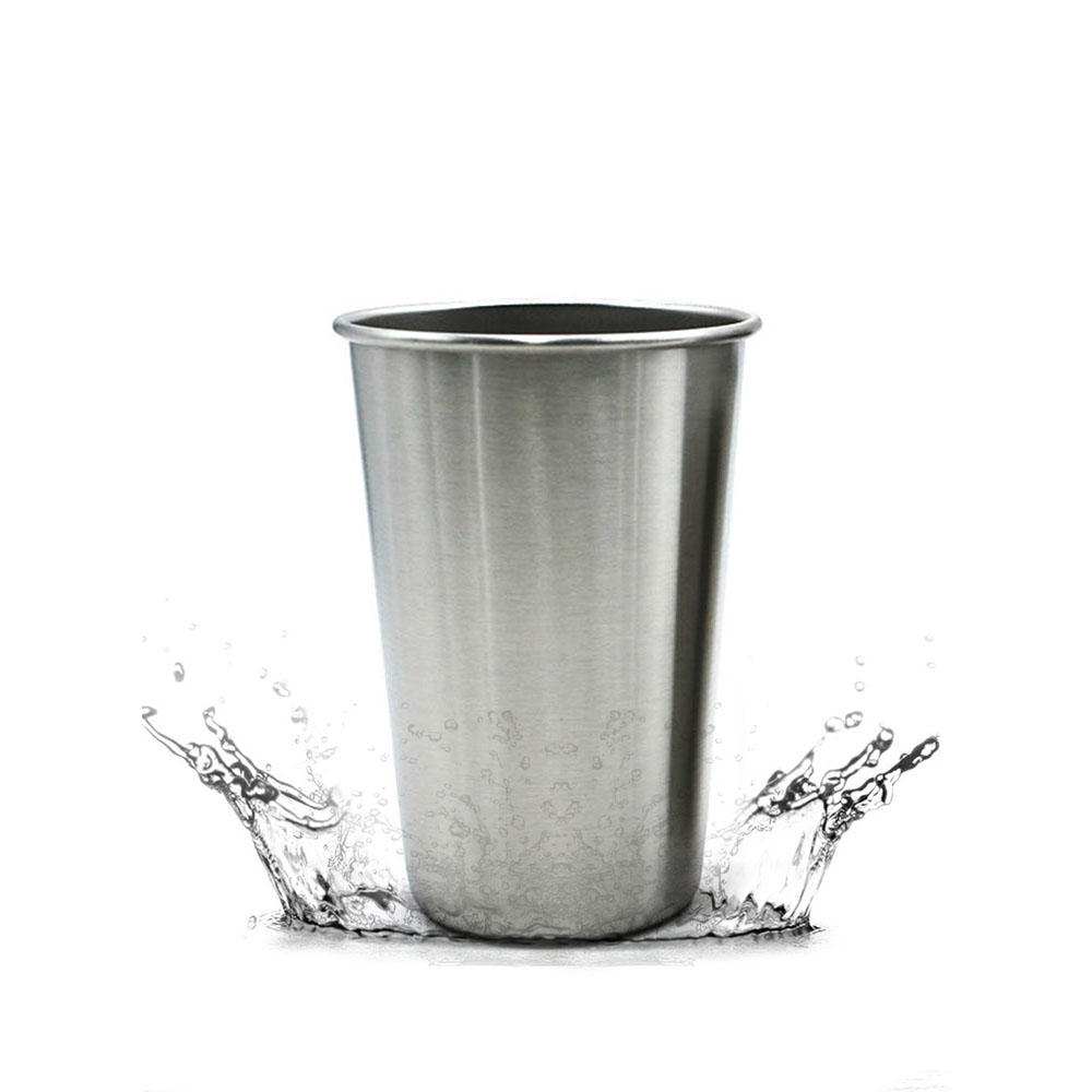 304 Stainless Steel Cup Mug Single Layer Cup Drink Cup Milk Cup 500ml Home Kitchen Drinkware Water Cup