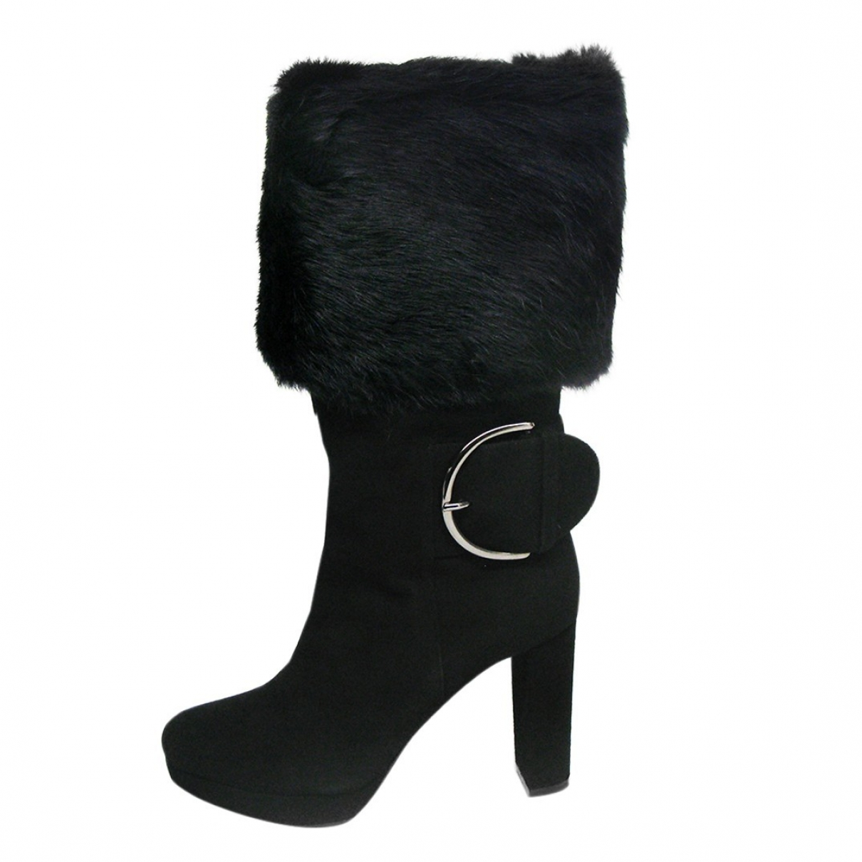 Walter Steiger \N Black Suede Boots for Women 36 EU