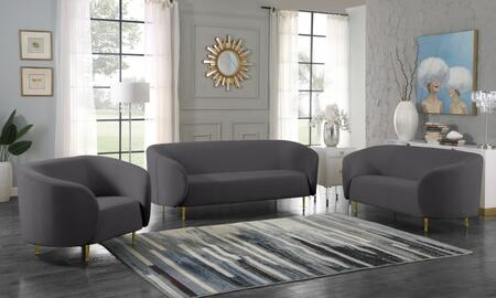 Lavilla Collection 611GREYSLC 3- Piece Living Room Set with Sofa  Loveseat and Chair in