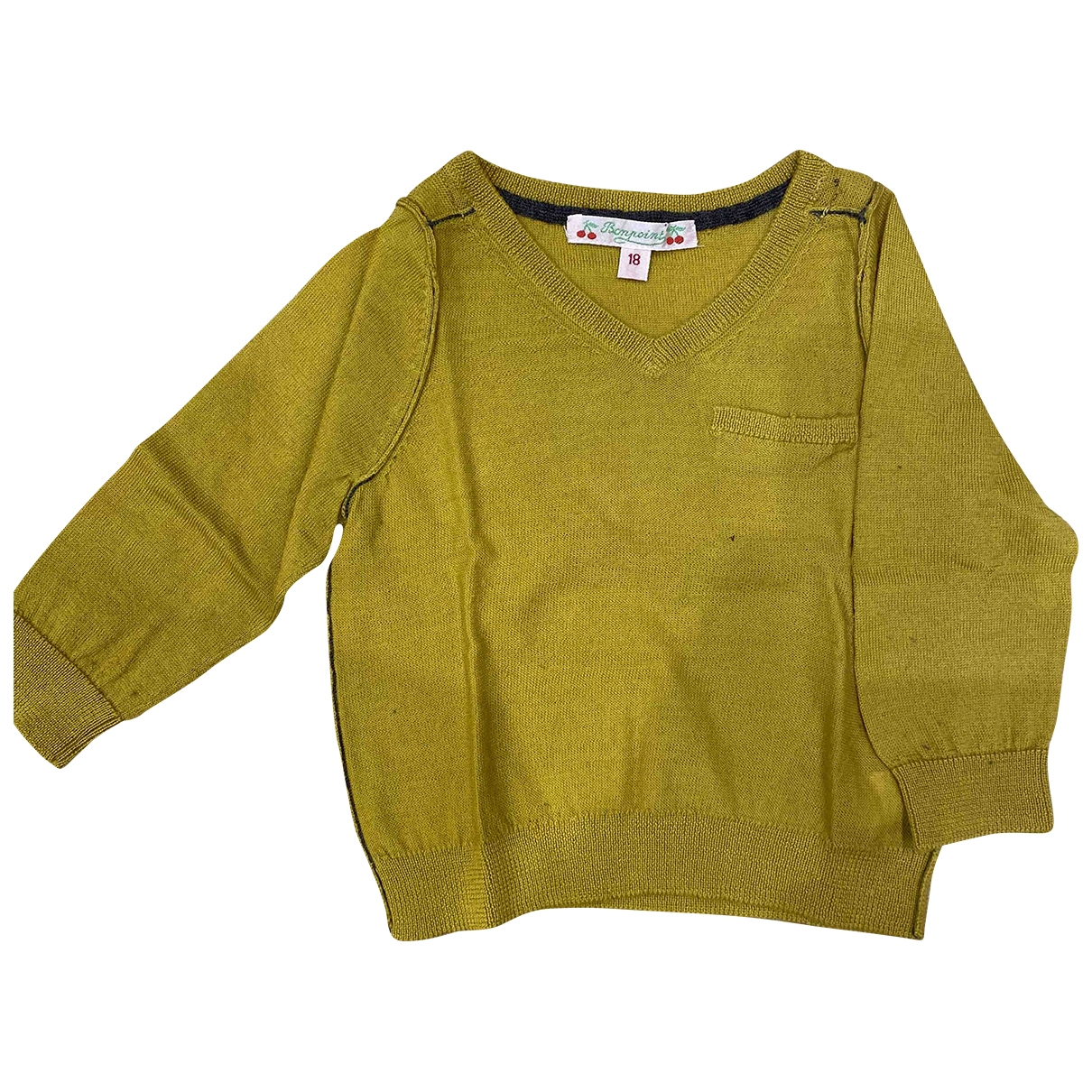 Bonpoint \N Yellow Wool Knitwear for Kids 18 months - up to 81cm FR
