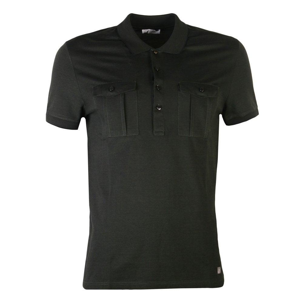 Versace Collection Double Pocket Polo Shirt Colour: DARK GREEN, Size: