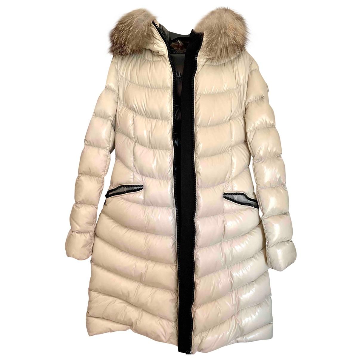 Moncler Long Beige coat for Women 42 IT