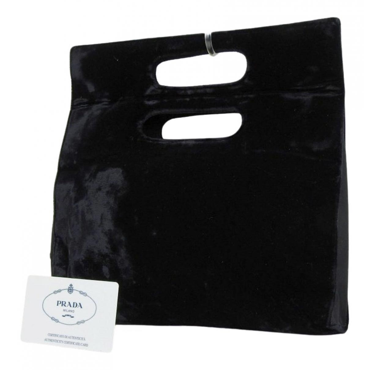 Prada \N Black Velvet Clutch bag for Women \N