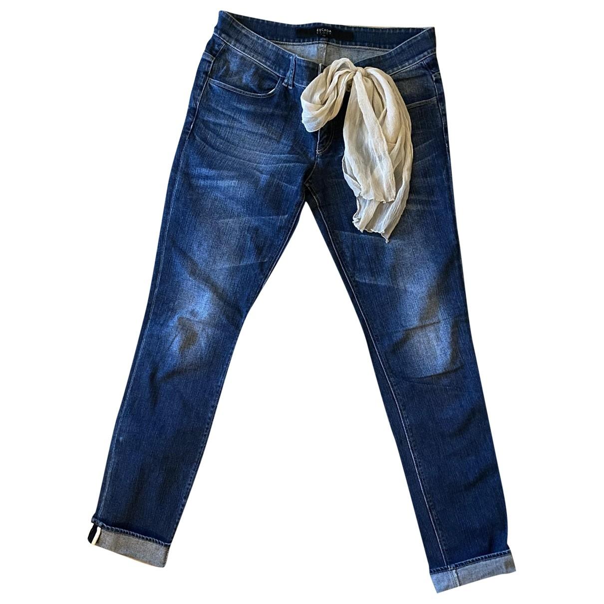 Escada \N Blue Denim - Jeans Jeans for Women 40 FR