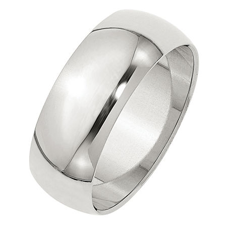 Personalized 8MM Sterling Silver Wedding Band, 9 , No Color Family