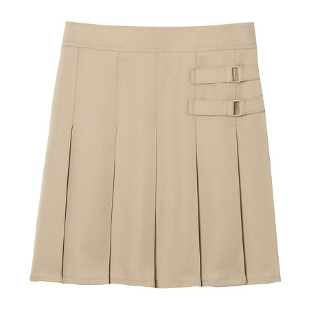 French Toast Little & Big Girls Adjustable Waist Scooter Skirt, 12.5 Plus , Beige