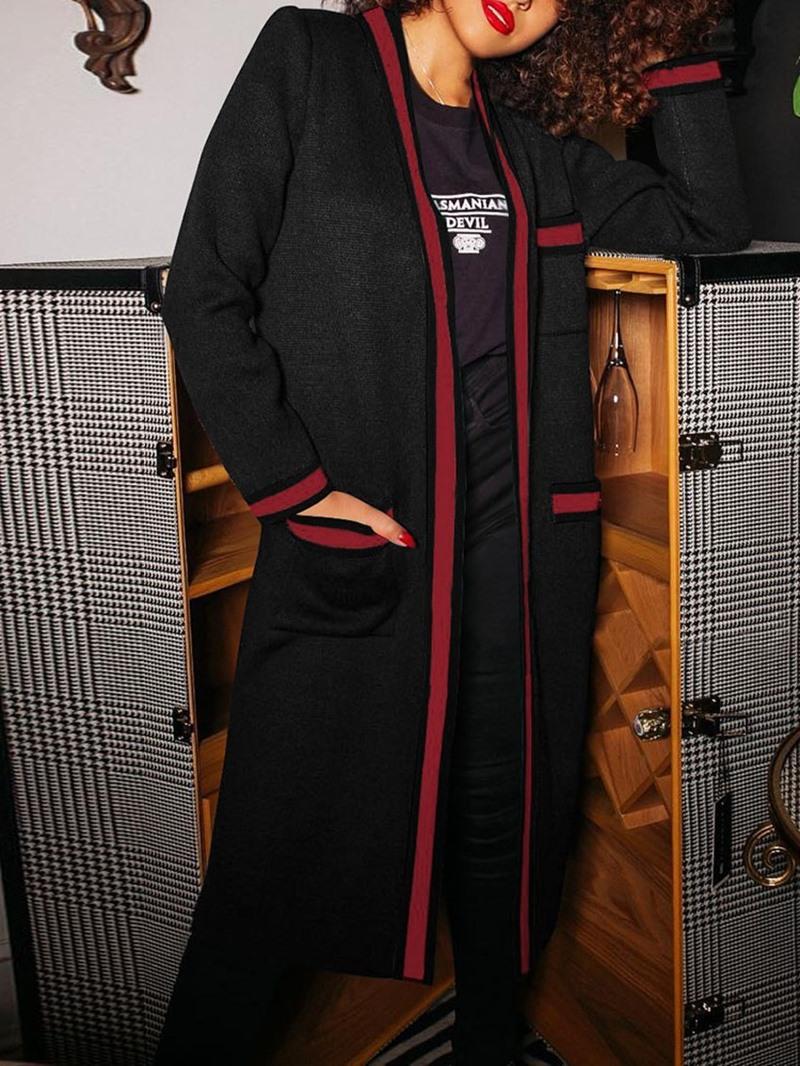 Ericdress Regular Pocket Straight Long Casual Women's Overcoat