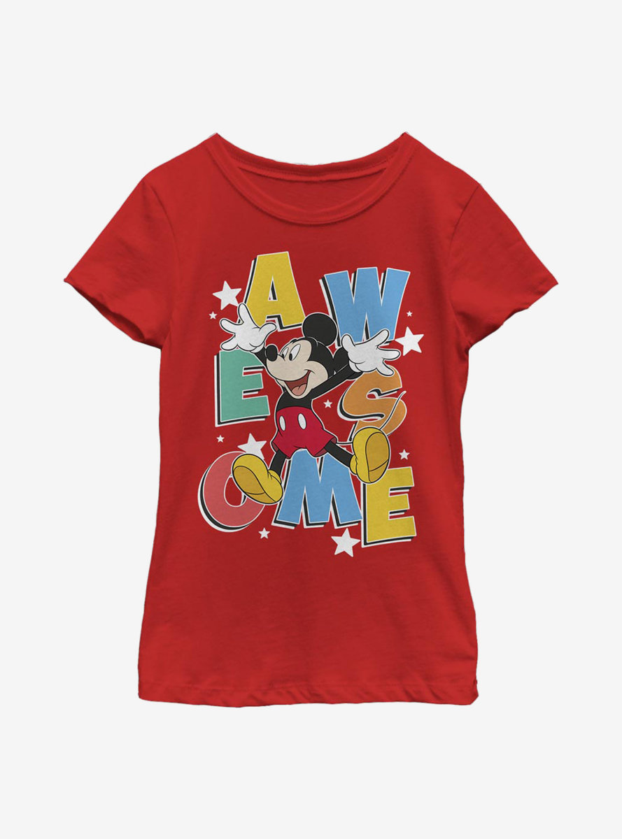 Disney Mickey Mouse Awesome Jumps Youth Girls T-Shirt