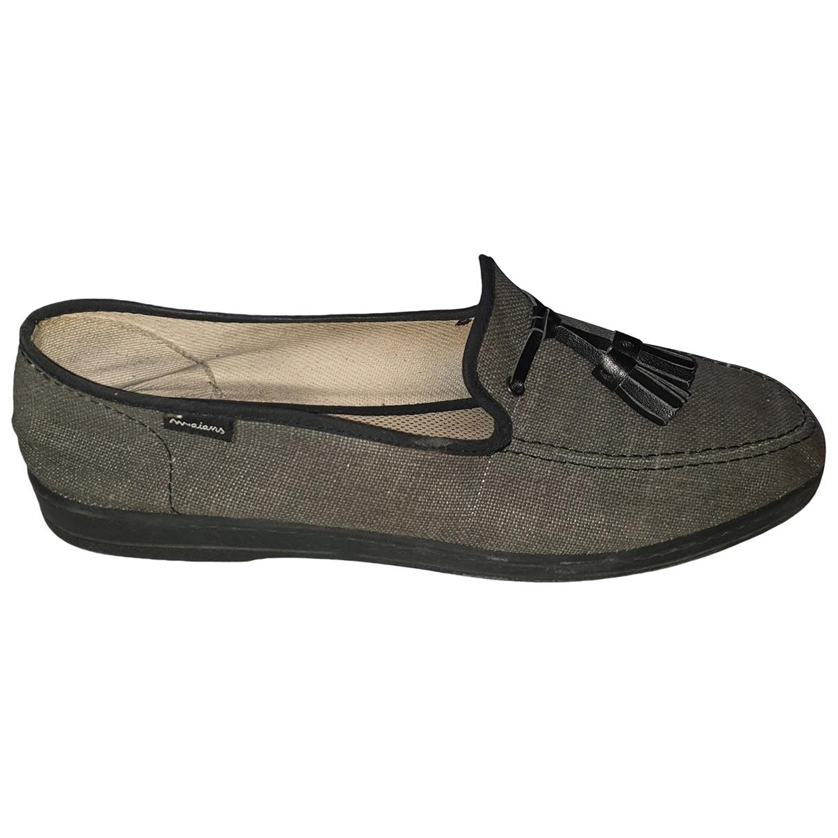 Non Signé / Unsigned \N Grey Cloth Flats for Men 45 EU