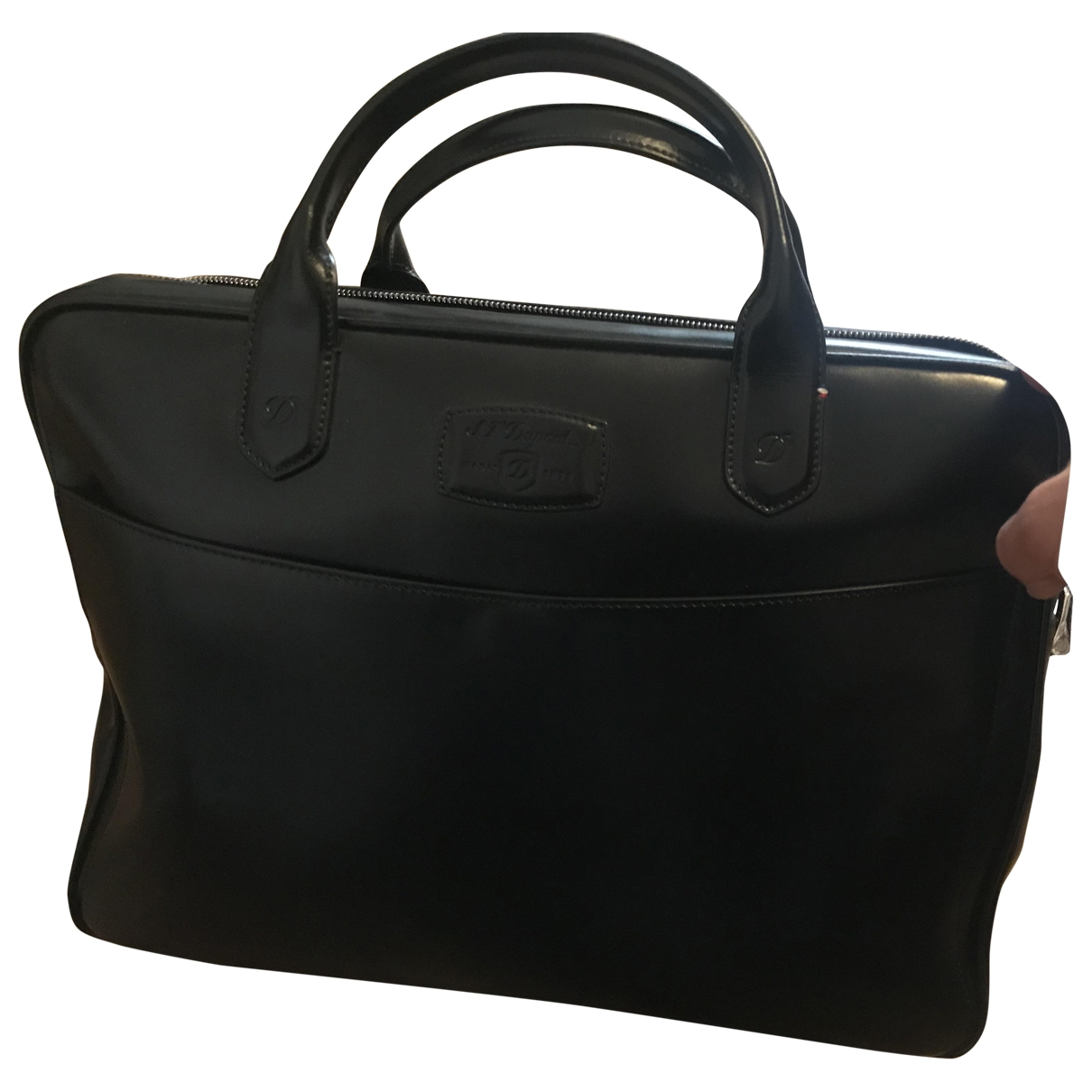 S.t. Dupont \N Black Leather bag for Men \N