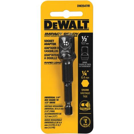 DeWalt Impact Ready 1/4 In. Hex Shank to 1/2 In. Socket Adapter