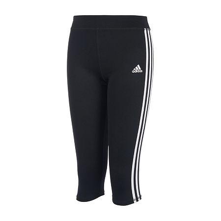 adidas Big Girls Mid Rise Legging, Large (14) , Black