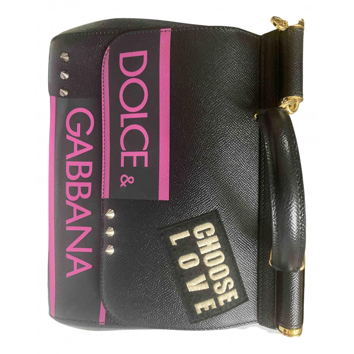 Dolce & Gabbana Sicily Black Leather handbag for Women \N