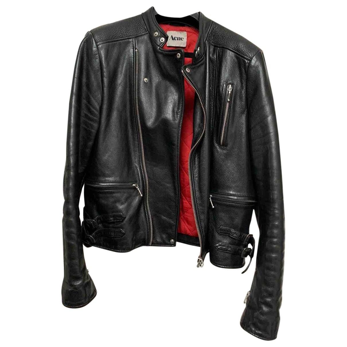 Acne Studios \N Black Leather jacket  for Men 50 FR