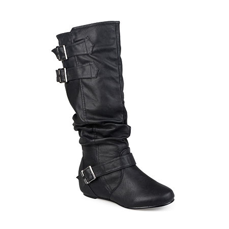 Journee Collection Womens Tiffany Slouch Riding Boots, 6 Medium, Black