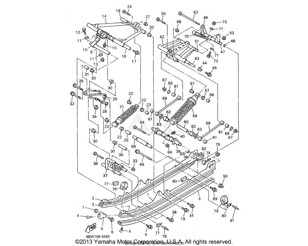 Yamaha OEM 8BX-47421-10-XX RUNNER, SLIDING 1 (8BX-47421-10