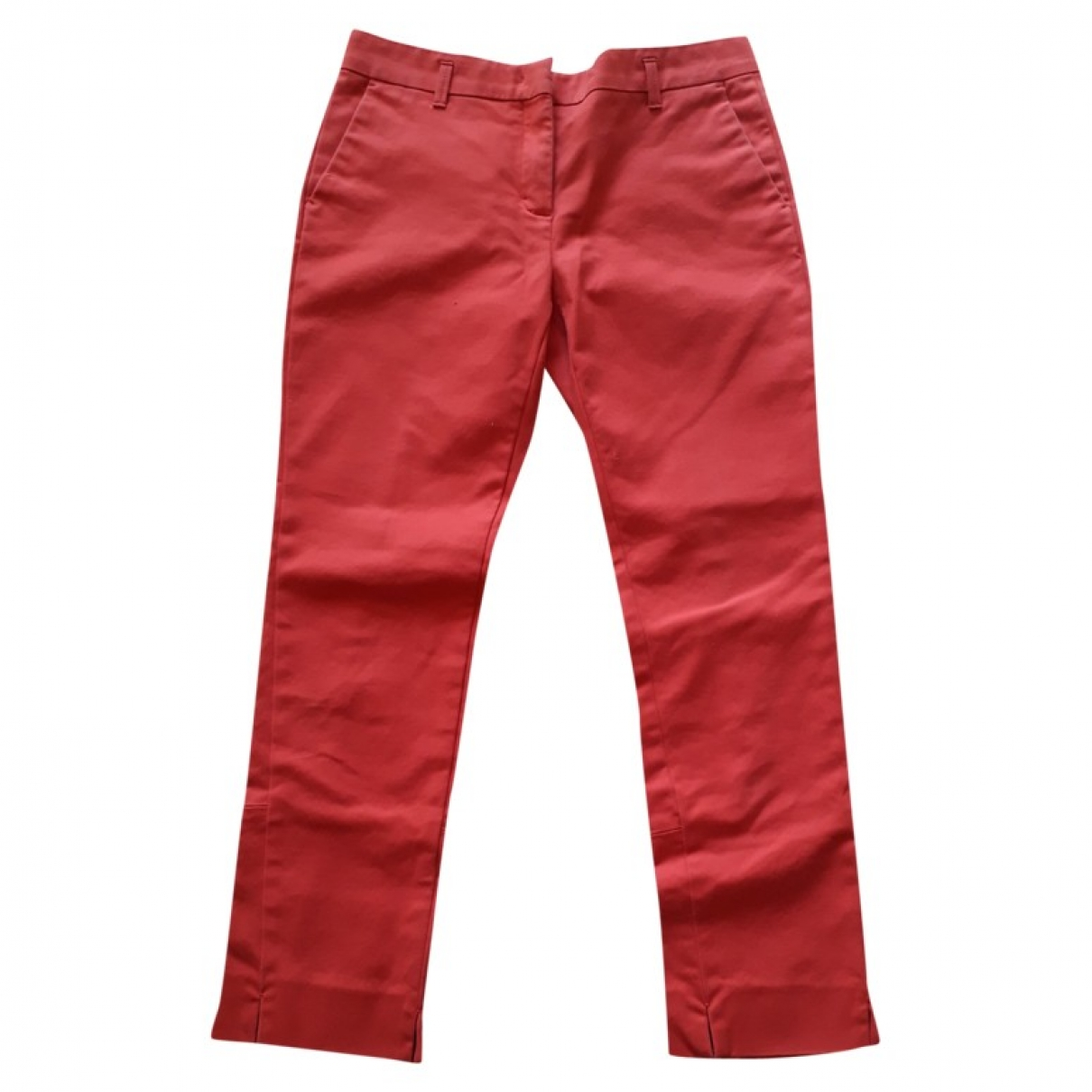 Dorothee Schumacher \N Red Cotton Trousers for Women XS International