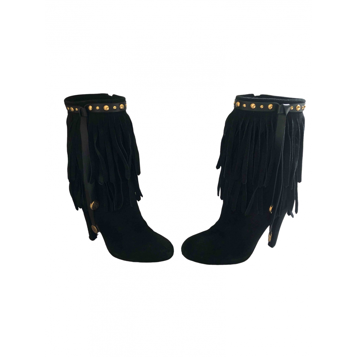 Gucci \N Black Suede Boots for Women 38 EU
