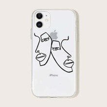 Simple Figure Face Print iPhone Case