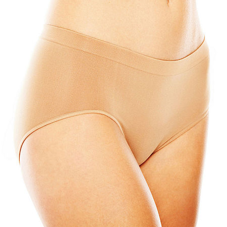 Ambrielle Seamless Knit Brief Panty 13p002, 6 , Brown