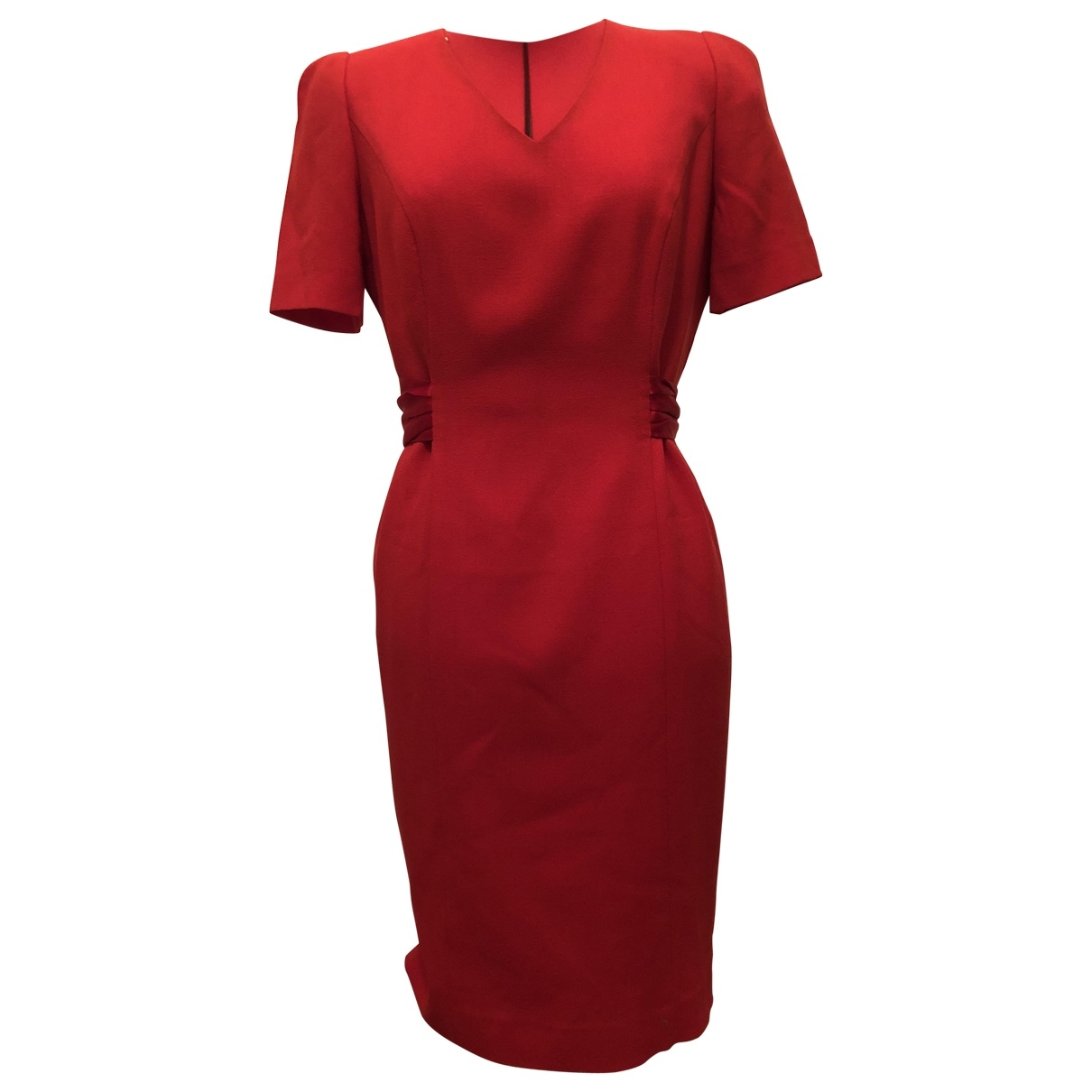 Non Signé / Unsigned \N Red Wool dress for Women 44 IT