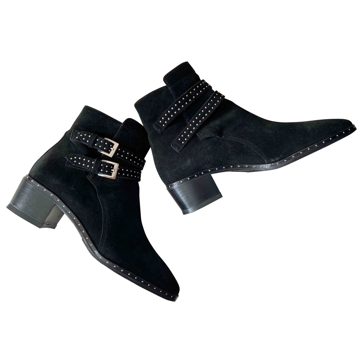 The Kooples \N Black Suede Boots for Women 4 UK