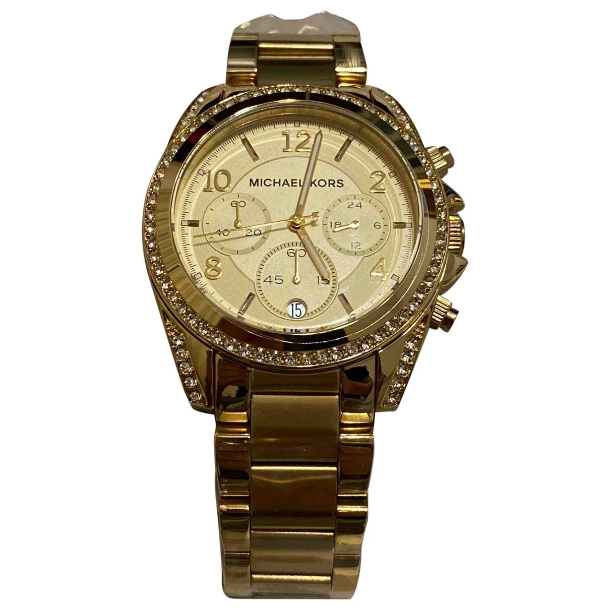 Michael Kors \N Gold Steel watch for Women \N