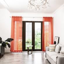 Plaid Pattern Single Panel Curtain