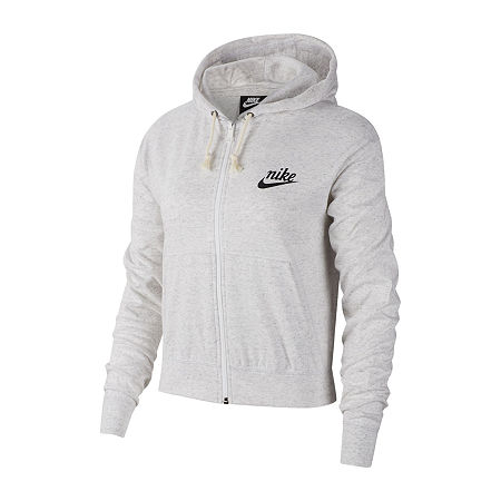 Nike Womens Hooded Neck Long Sleeve Hoodie, X-large , Beige