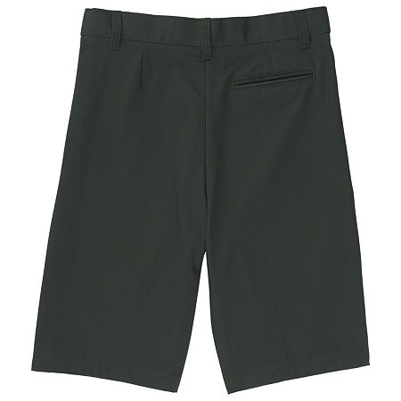 French Toast Little & Big Boys Adjustable Waist Chino Short, 18 Husky , Green