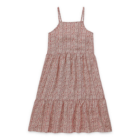 Arizona Little & Big Girls Sleeveless A-Line Dress, Large (14) , Red