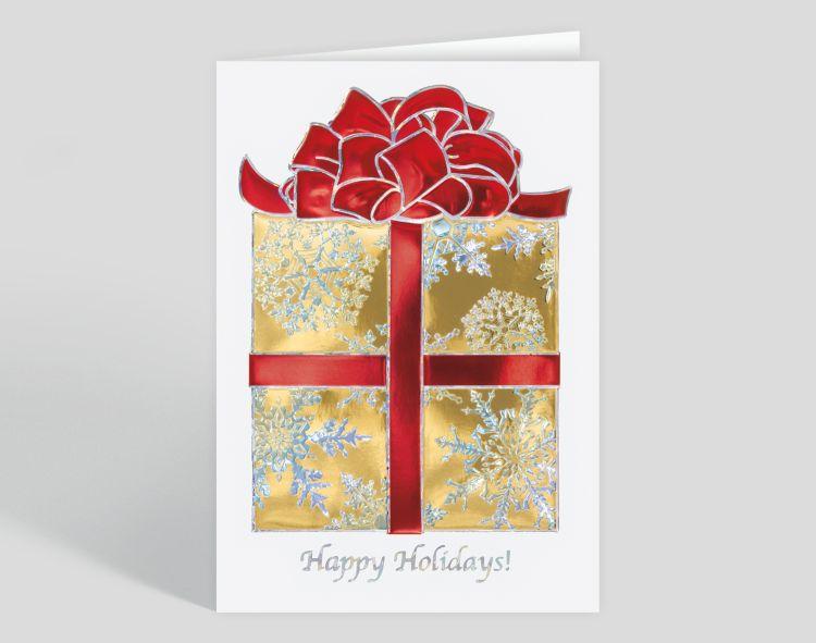 Crystal Snowflake Trio Christmas Card - Greeting Cards