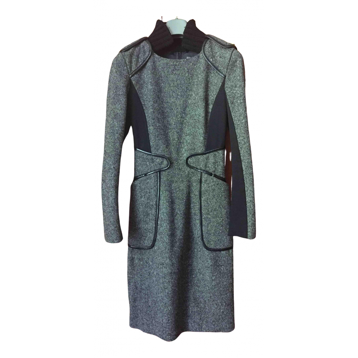 Sport Max \N Grey Wool dress for Women 38 IT