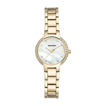 Armitron Womens Crystal Accent Gold Tone Bracelet Watch-75/5587mpgp, One Size , No Color Family