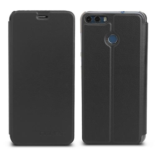 Leather Case Ultra-thin Shockproof Flip Cover Protective Phone Case For Ulefone MIX 2 - Black