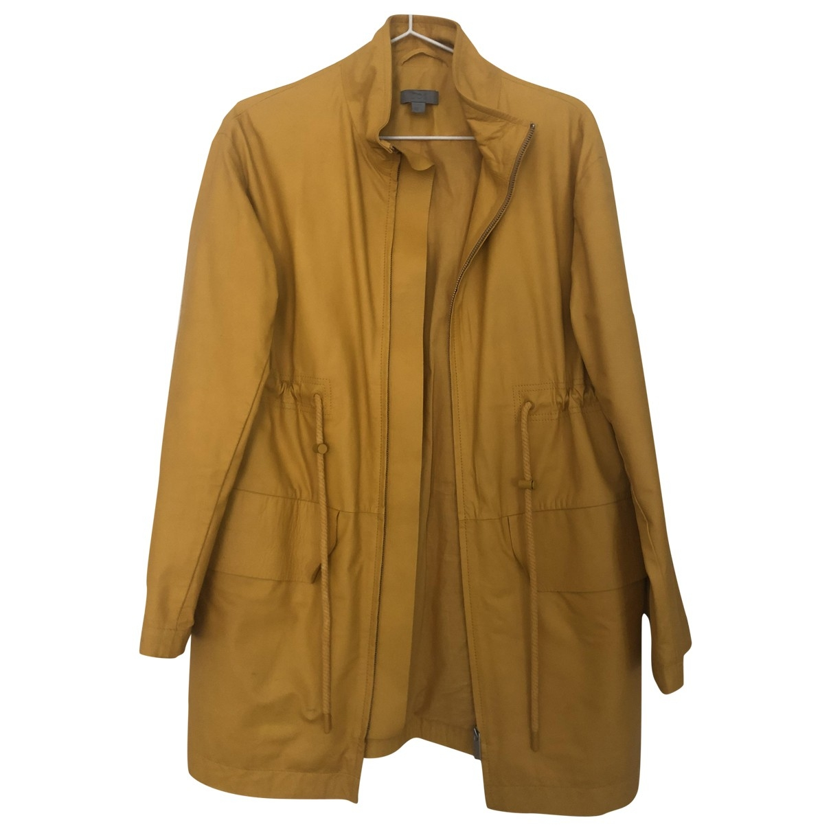 Cos \N Yellow Leather jacket for Women 36 FR