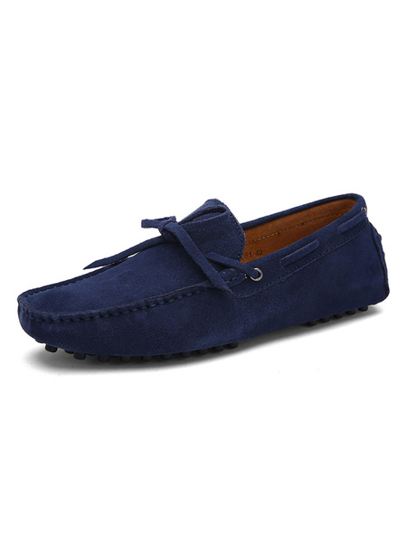 Milanoo Mens Moccasin Shoes Penny Loafers Suede Slip On Driving Shoes