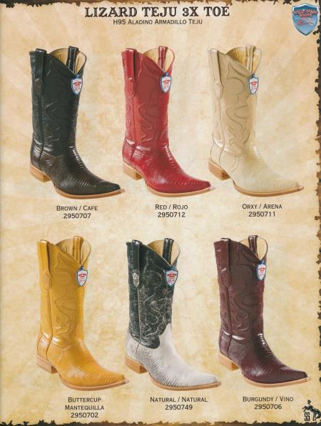 XXXToe Genuine Lizard Teju Mens Cowboy Western Boots Diff.Color/Size