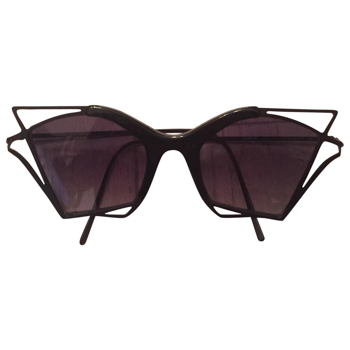 Kyme \N Black Metal Sunglasses for Women \N